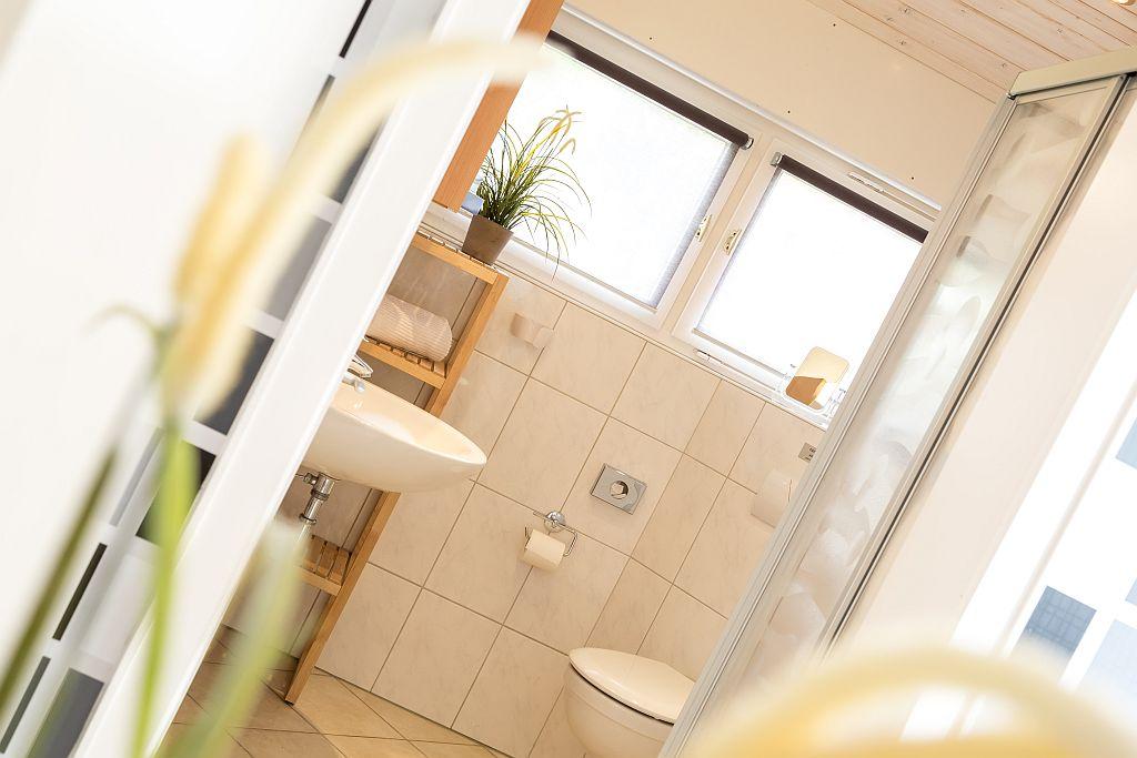 De badkamer van appartement Elise