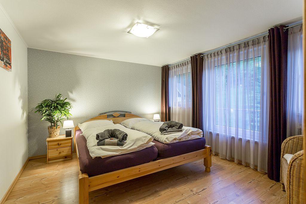 Tweepersoons slaapkamer in appartement Linda.