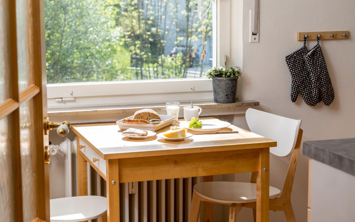 Ontbijttafel appartement Michel